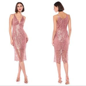 🆕NWT Dress The Population Leilani Rose Gold Dress